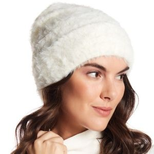 Free People Hat Head in the Clouds Beanie White OS
